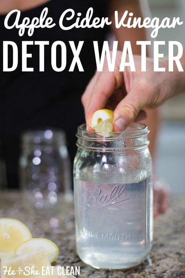 Apple Cider Vinegar Detox Water