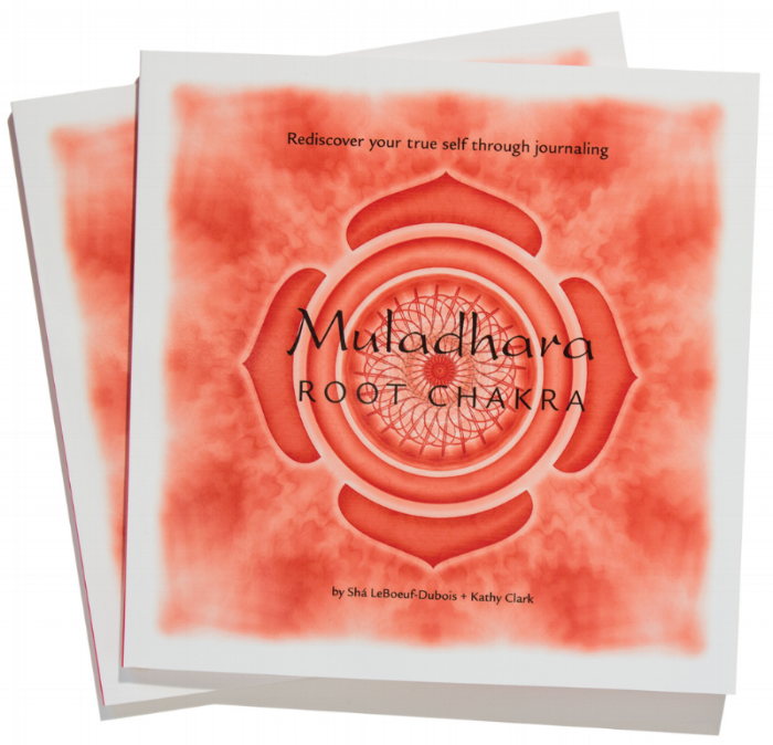 Our Root Chakra Journal is custom designed for exploring the mysterious energy center of Muladara. The journal not only outlines the root chakra characteristics,blocks, and balances, there are vignettes sprinkled throughout with thought provoking questions and blank pages for self-reflection.