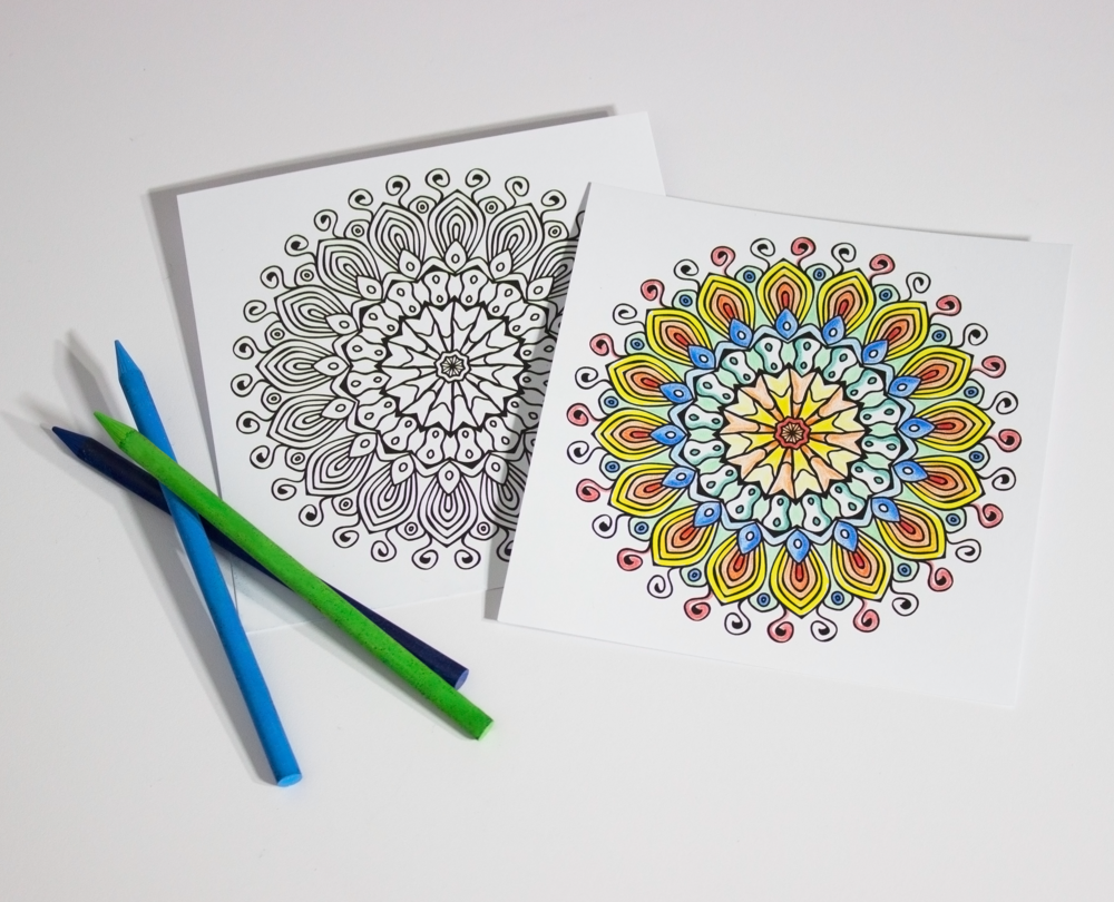 MANDALA COLORING CARDS – $10 Find your inner child and inspire your creativity with our intricately illustrated mandala cards. Choose from 10 unique sets.