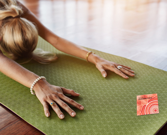 HOW A SMALL, UNEXPECTED MOMENT INSPIRED A BIG IDEA Sometimes the most unexpected moment, the smallest gesture, can give birth to something big. Discover how one such exchange on a yoga mat inspired the creation of our tiny LeafLet Notes.