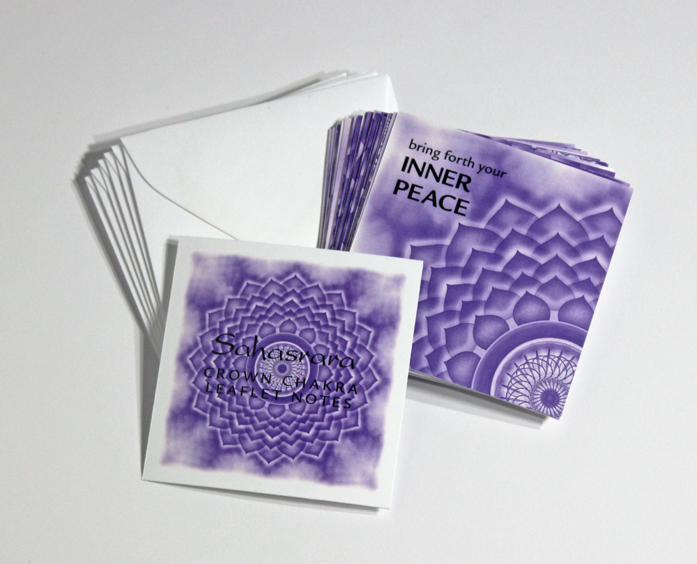 CROWN   CHAKRA LEAFLET NOTES - $18  Have faith in the universal energy and develop a deeper meaning and purpose to your life with our tiny Crown Chakra LeafLet Notes.
