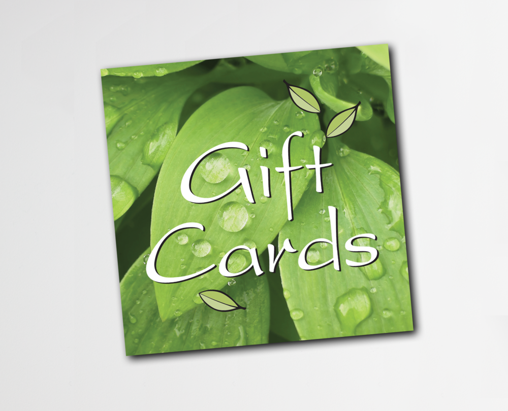 LEAFLET GIFT CARDS - $25 to $100  The easy to give and fun to receive gift for that special and sometimes hard to shop for person on your holiday gift list.