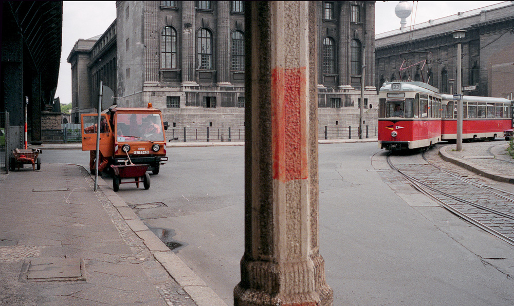 Georgenstrasse, East Berlin looking towards Pergamon Gallery.