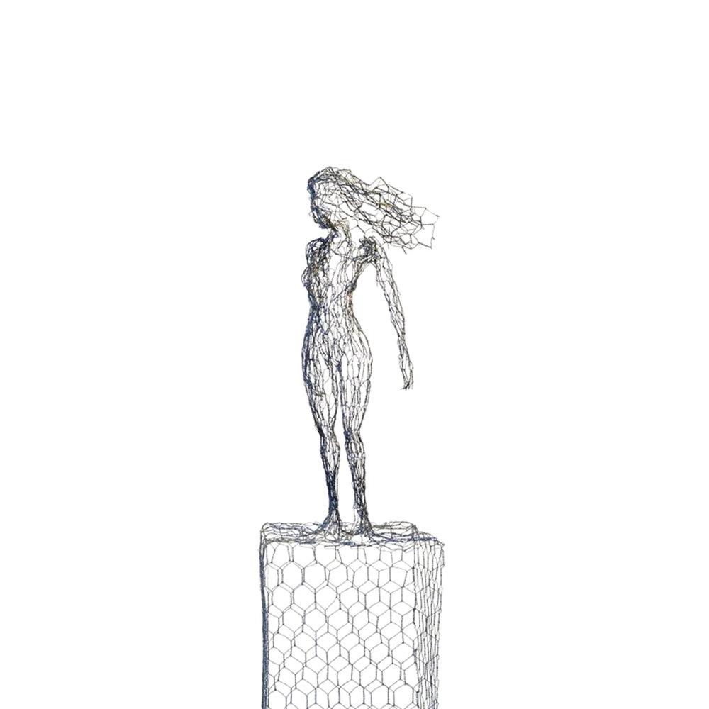 Drahtfigur André Rämi  CHF 2'000.00 Höhe 92 cm