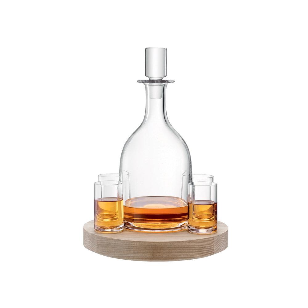 Decanter LOTTA  CHF 147.00 1 Decanter, 4 Gläser, Unterteil aus Esche
