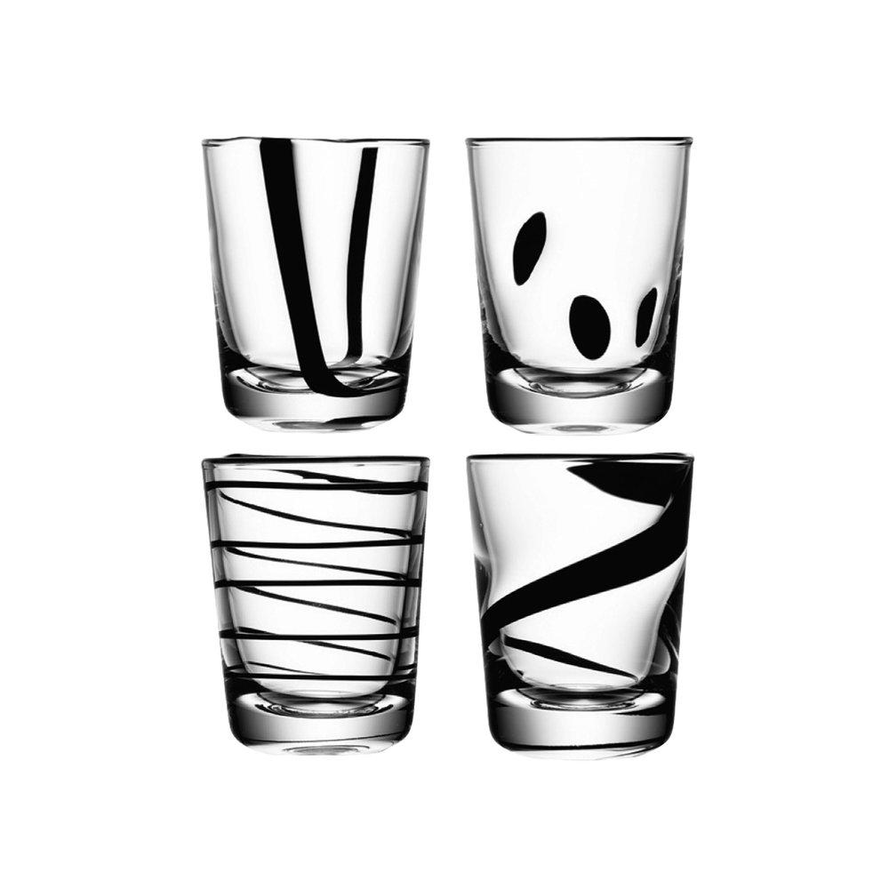 Gläser JAZZ   CHF 78.00   Set bestehend aus 4 Gläsern, assortiert