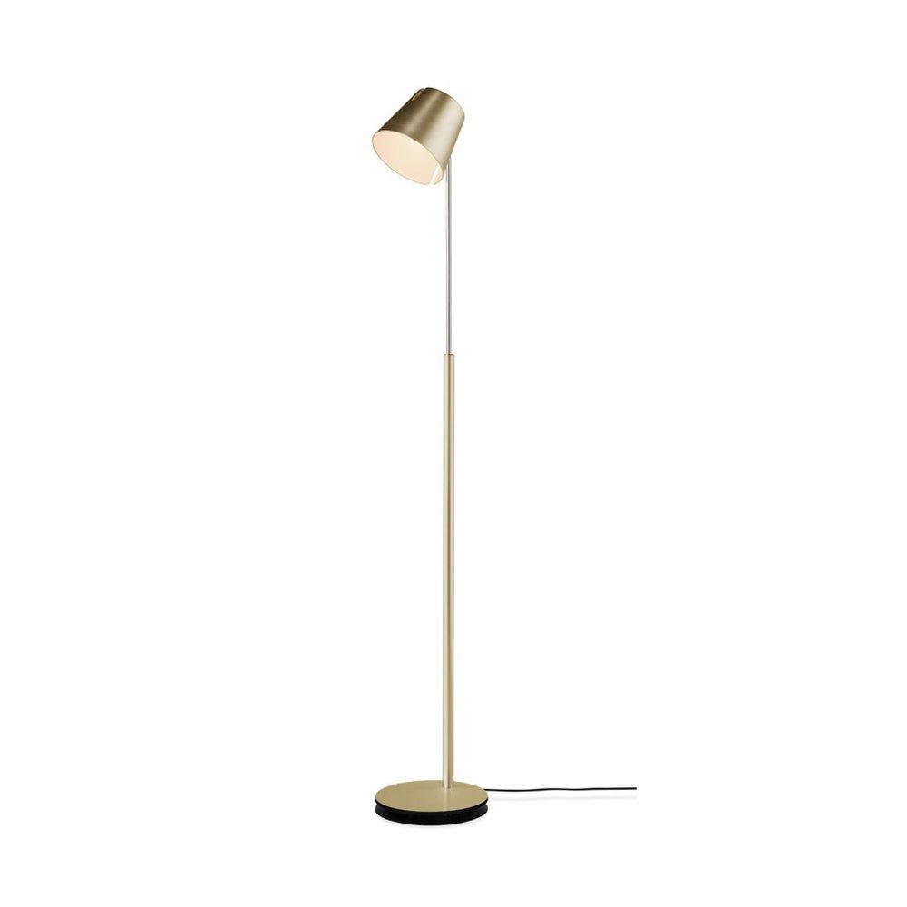 Stehleuchte FEZ , bronze CHF 1'380.00 Höhe 100 - 170 cm, LED, direktes / indirektes Licht Auch erhältlich in Alu, schwarz oder weiss.