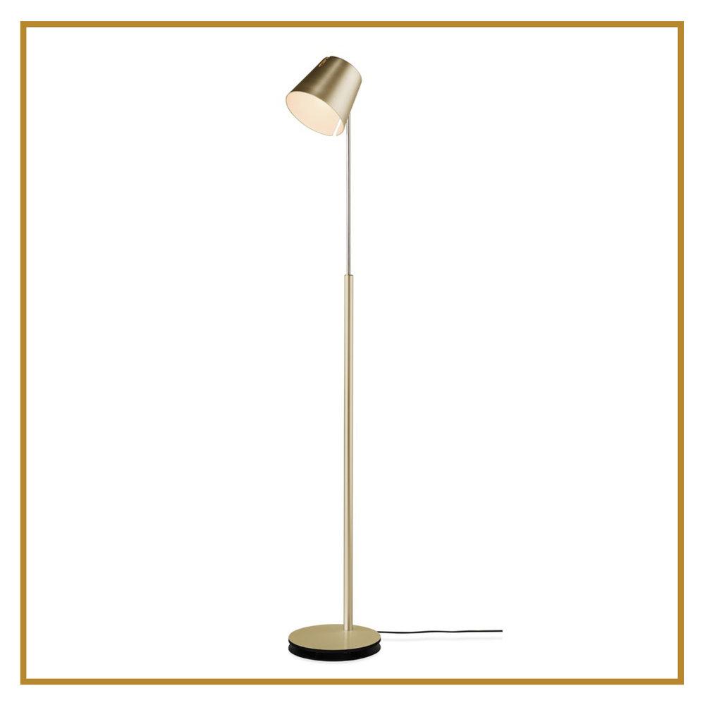 Stehleuchte FEZ , bronze CHF 1'395.00 Höhe 100 - 170 cm, LED, direktes / indirektes Licht Auch erhältlich in Alu, schwarz oder weiss.