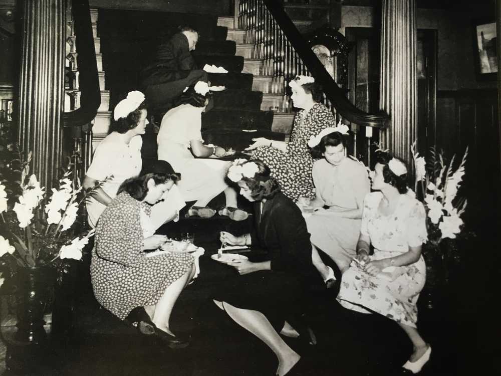 West mansion stairparty.JPG