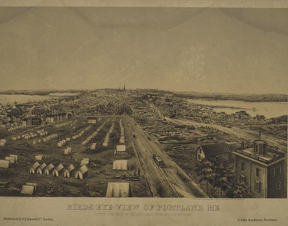 Great Fire Of 1866 Greater Portland Landmarks