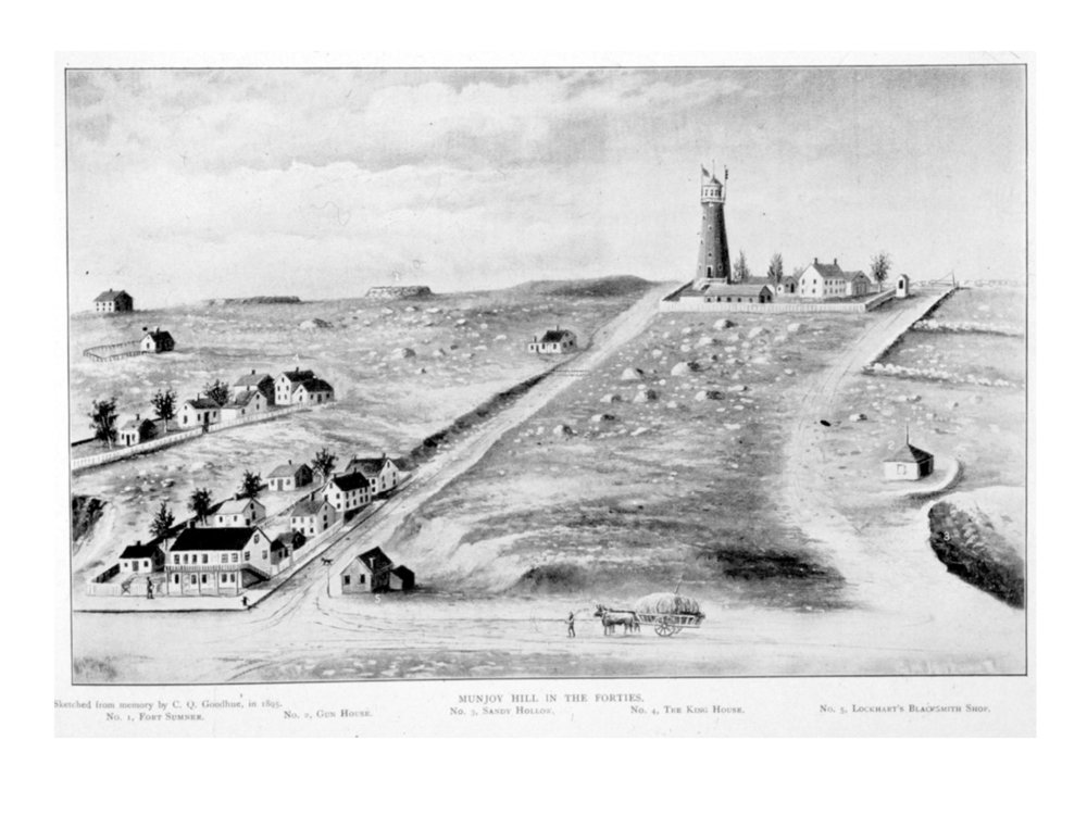 View of Fort Sumner on Munjoy Hill by Charles Goodhue from the  Maine Historical Society
