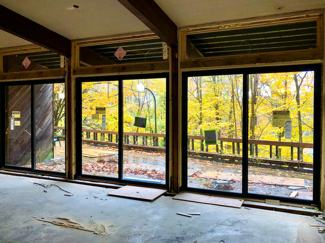 Replacement sliding glass doors, installed by Marvin Windows