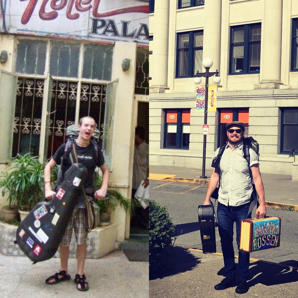 Left: July 2006. Calcutta, India. Age 18. 134 lbs. Photo credit: Rosie Boggis  Right: July 2017. Vancouver, BC. Age 29. 180 lbs. Photo credit: my mom.