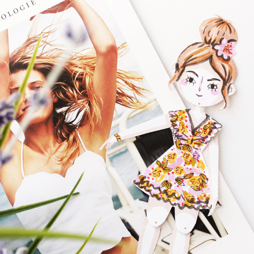 Anthropologie Buttercrumble Paper Dolls
