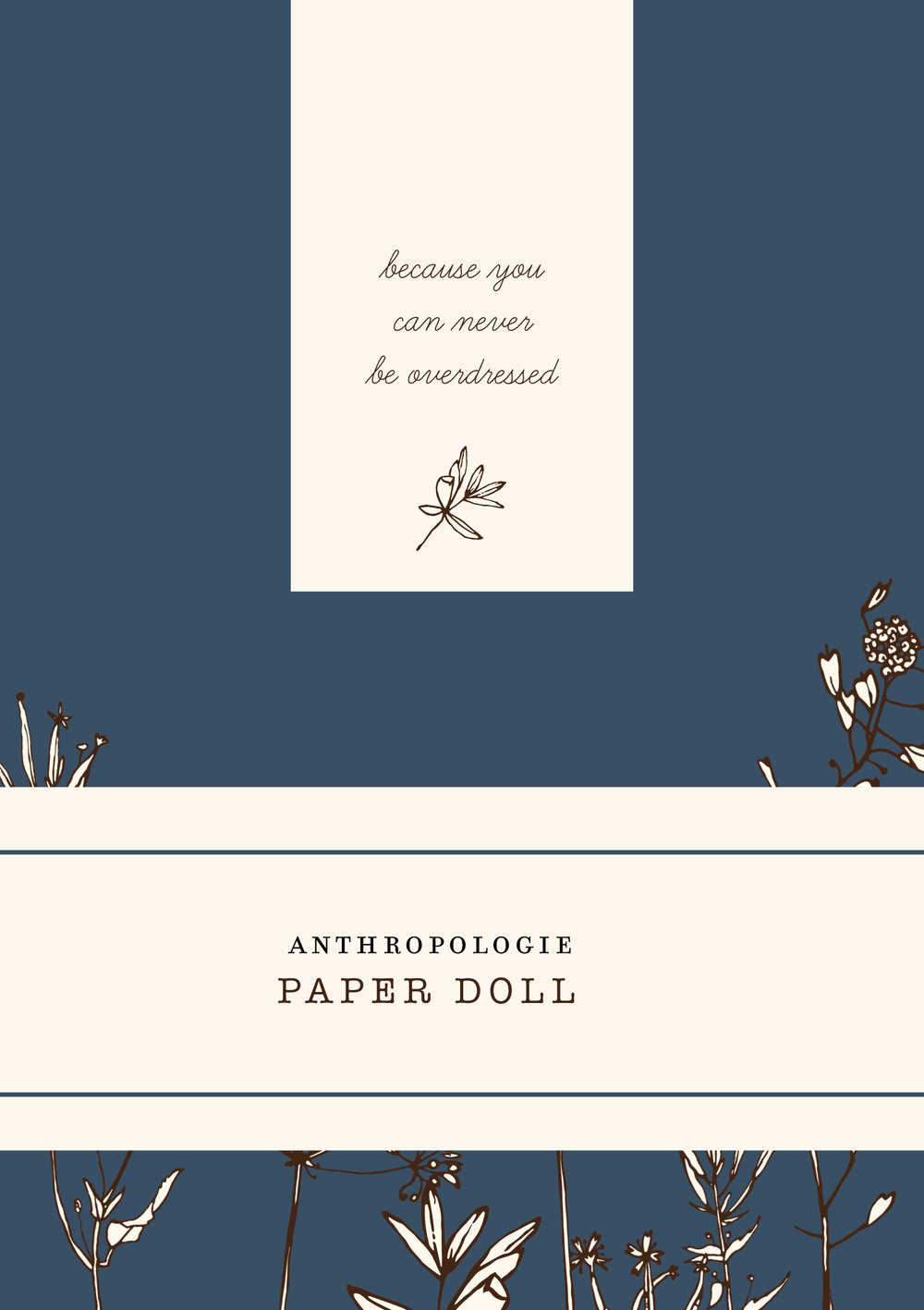 The stylish packaging we designed to hold each Paper Doll.