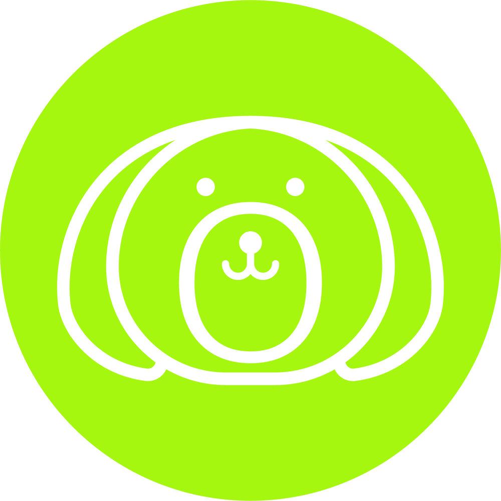 Bob & Lulu - Brandmark - Sticker - White - Green.jpg