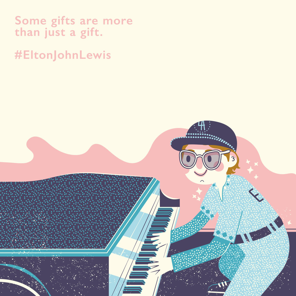John Lewis Elton Illustration Buttercrumble Christmas
