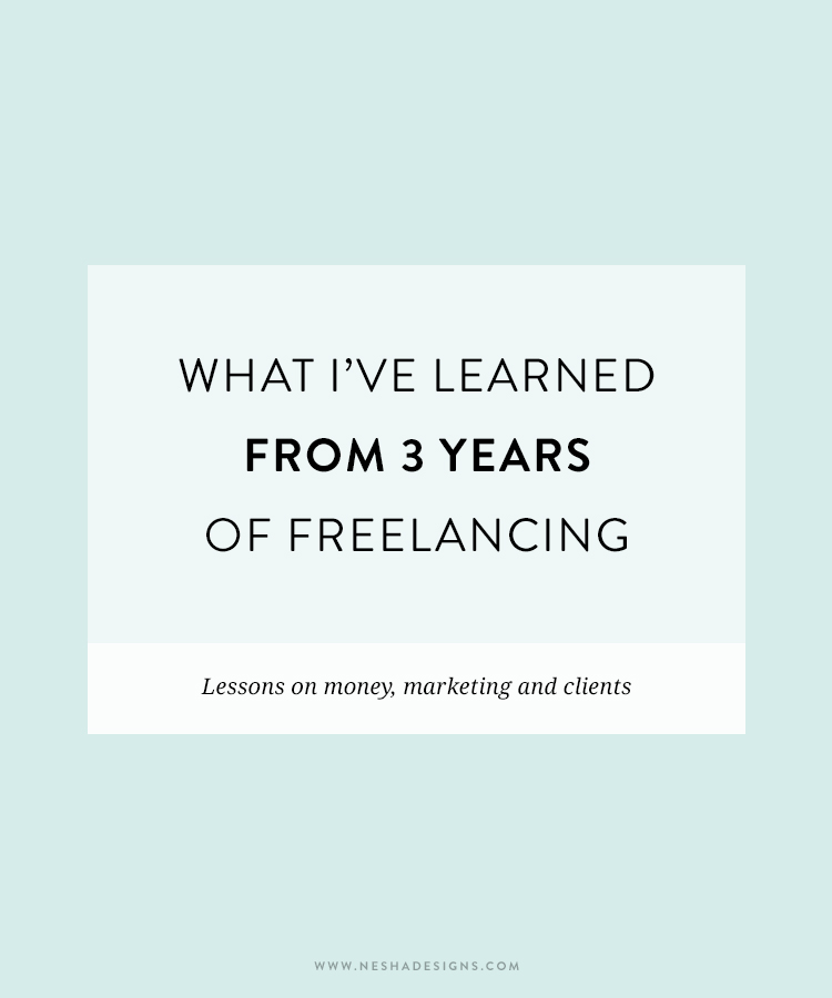 what i've learned from 3 years of freelancing