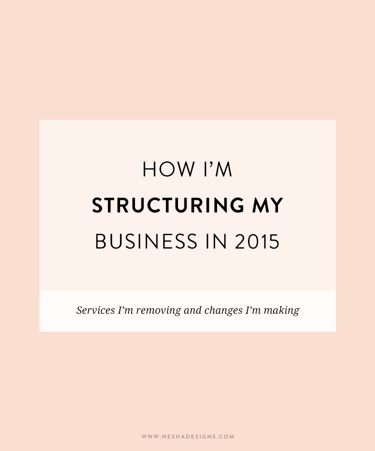 how i'm structuring my business in 2015