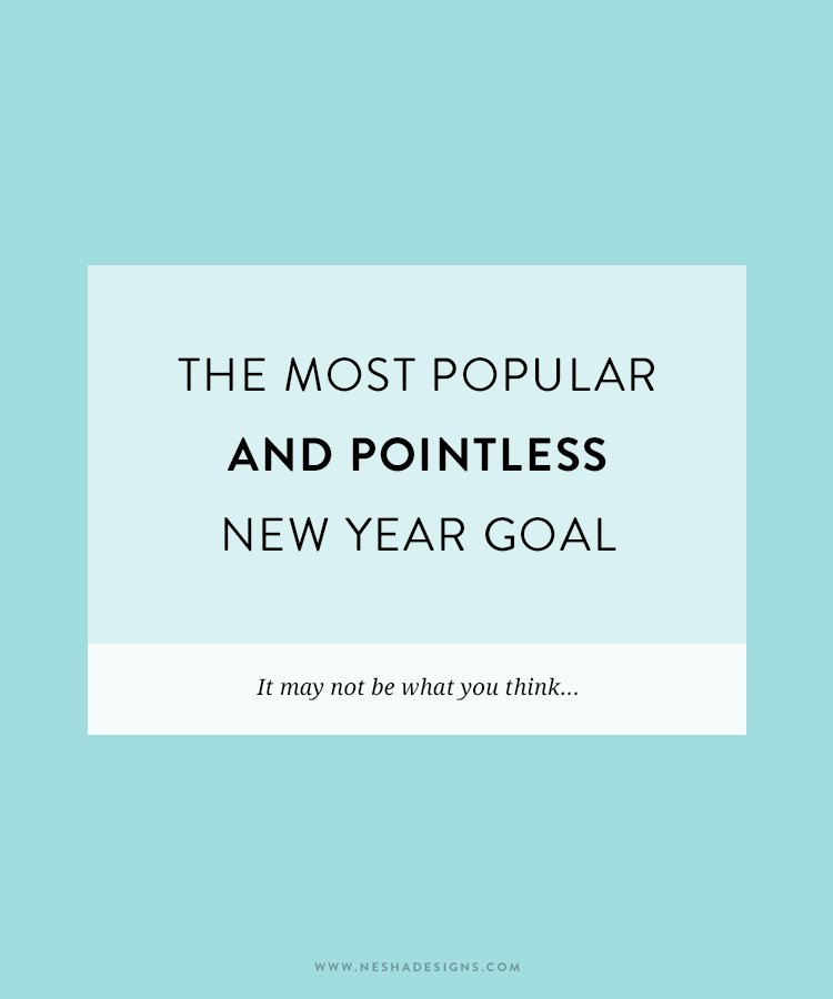 The most popular and pointless new year goal