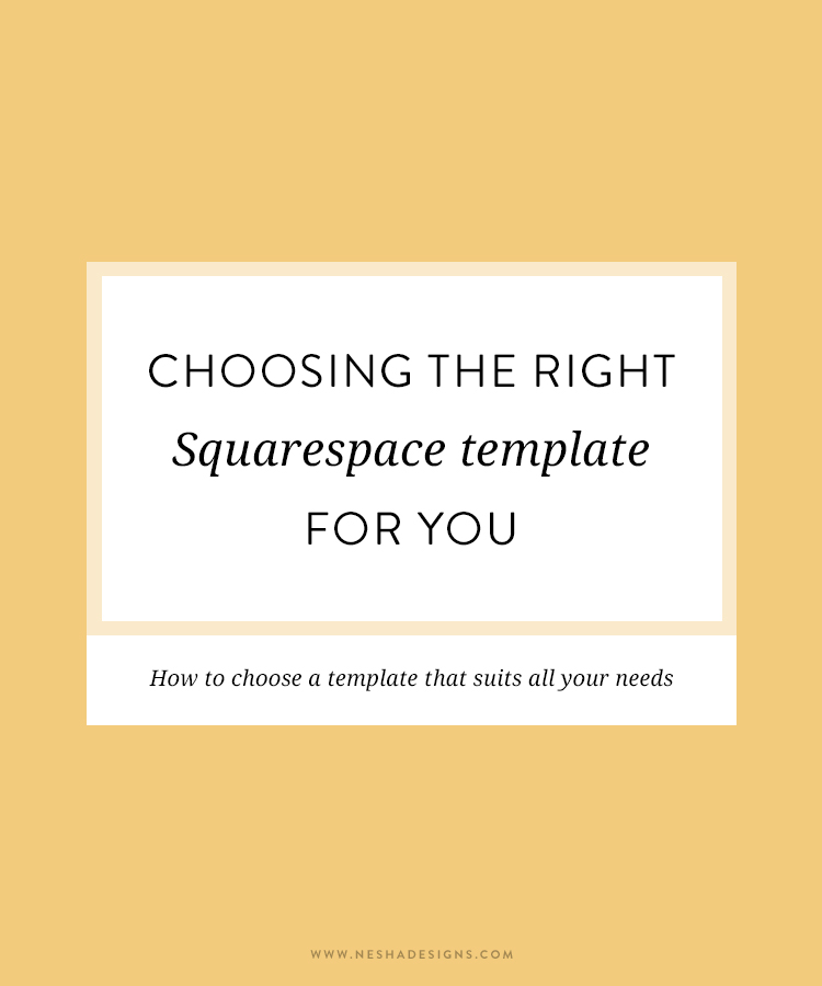 choosing the right squarespace template nesha woolery. Black Bedroom Furniture Sets. Home Design Ideas