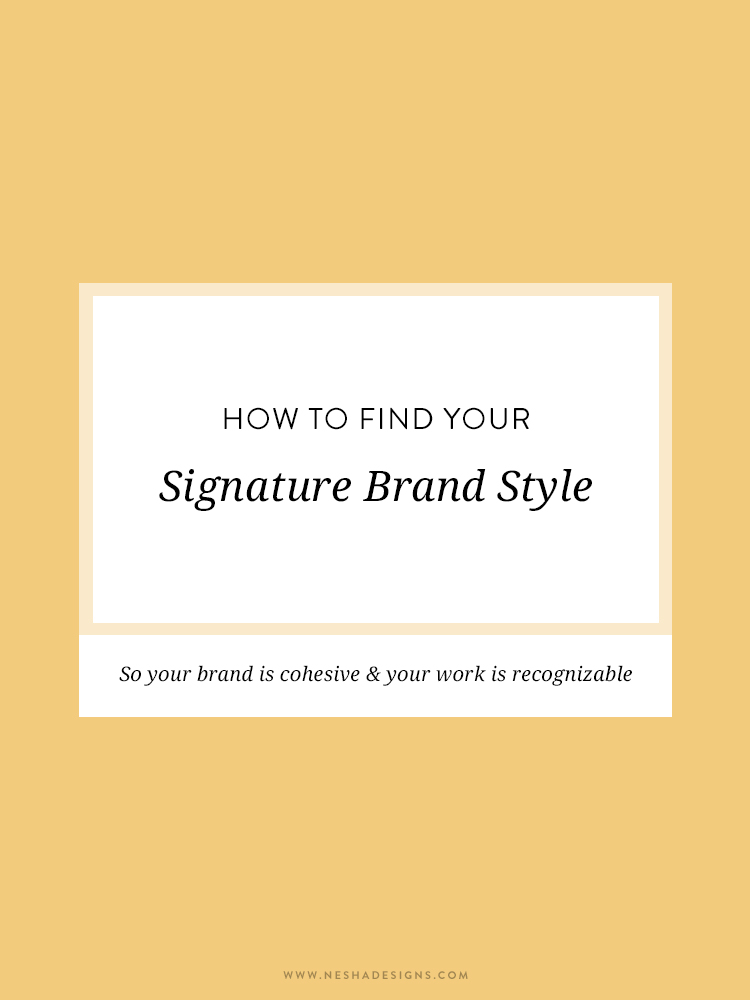How to find your signature style | Are you struggling to find brand clarity? Discovering your brand style isn't hard, even if you're not a designer. Click through to read how... This is the perfect article for bloggers and entrepreneurs!