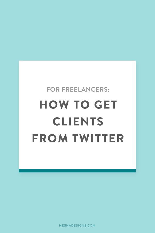 How to get clients from Twitter — Nesha Woolery. Struggling to find clients? Click through to learn how to use Twitter to find your ideal clients!
