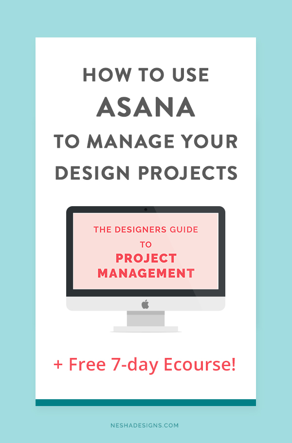 Designers- are your projects stressful and unorganized? Do you manage your projects through emails? It's time to start using a professional project management tool like Asana! Click through to learn how to use Asana for your client projects and join the FREE ecourse!