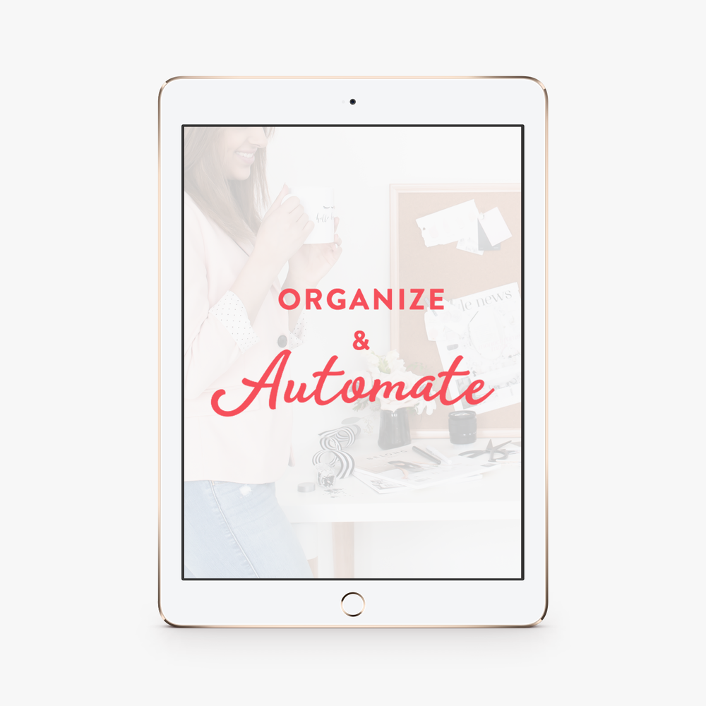 Organize & Automate - Imagine your design process is so organized that your clients never forget to hand in files or feedback on time, late payments become a thing of the past and you feel less stressed and more excited about client work.It's not impossible. Organize & Automate is the only course teaching freelance designers how to simplify their design process and ditch the stress.Learn More →