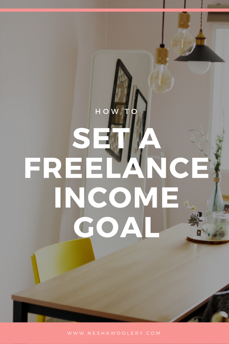 How to set a freelance income goal by Nesha Woolery. Freelance web, graphic and print designers, click through to learn how to set an income goal for 2018