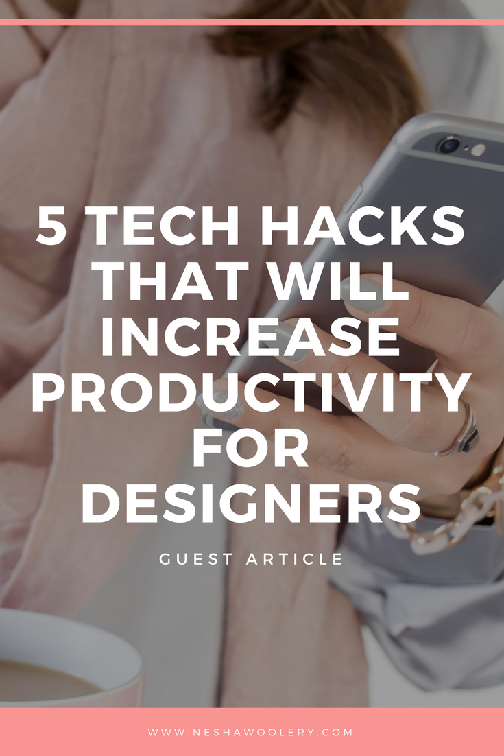 Click on this pin to read this special guest post, written by my friend Kristen Smith who will open your eyes to 5 tech hacks that will increase productivity.