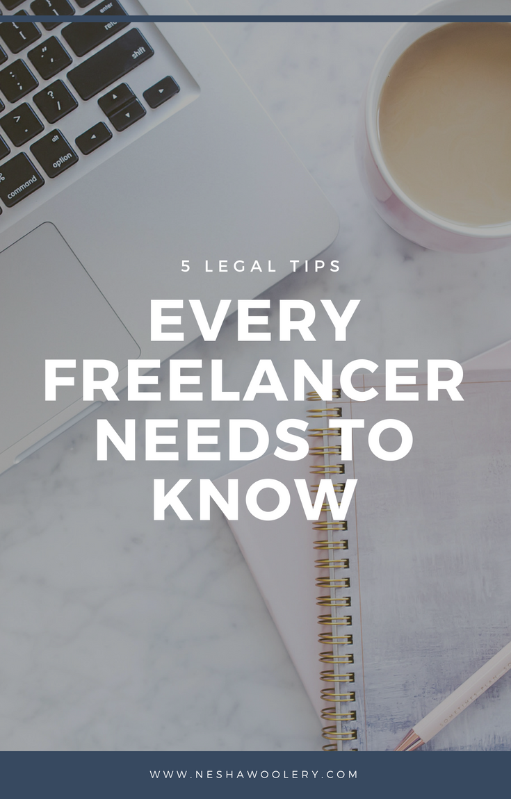 If you've just started your own business or maybe you even been in the business game for a quite a while now, but your still unsure of what exact legal contracts, policys etc. you need for your business, the awesome attorney Jackie is here to save and ensure you with the best legal advice on how to legally protect your business. #Freelance, #Legal Tips, #Legal Contracts, #Business, #Guest Post, #Start Freelancing