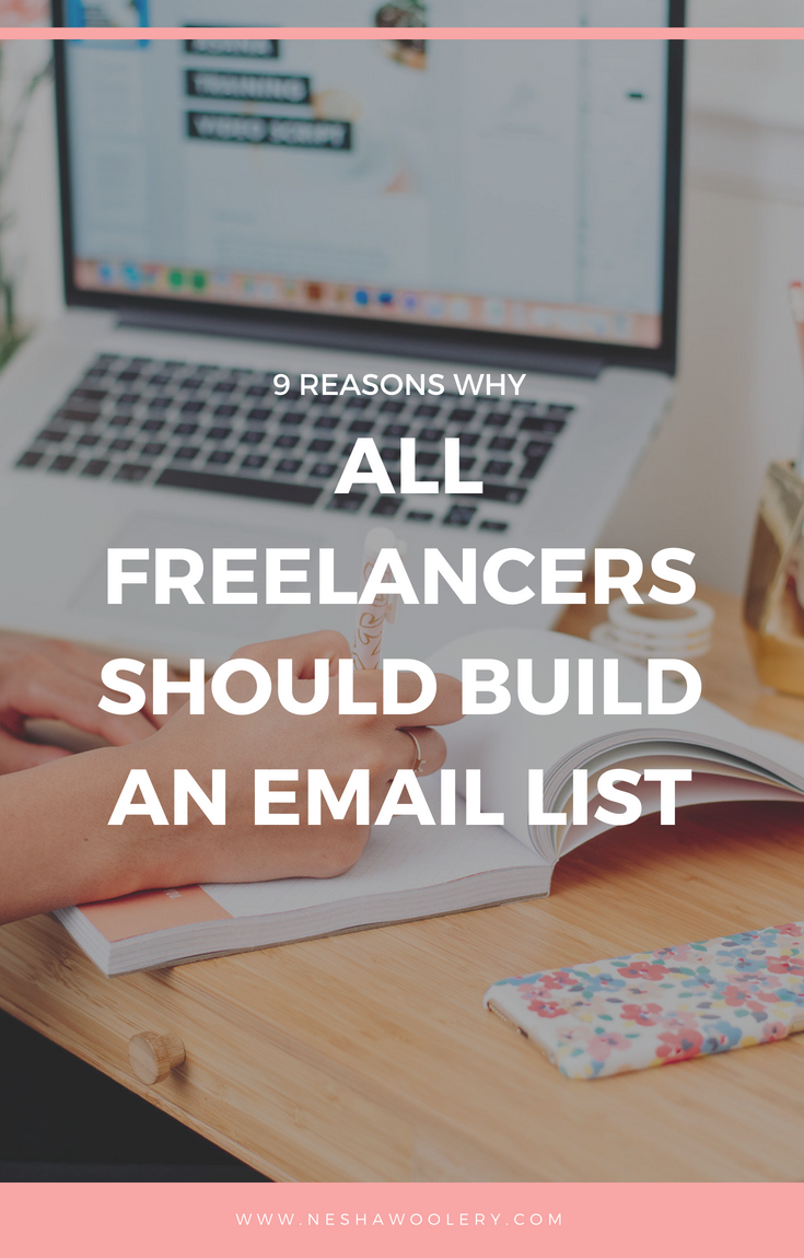 If you want your words read, your work seen, and your services and products purchased, an email list is what you need. Click on this pin to find out even more benefits to having an email list now! #Freelance, #Email List, #Business, #Designers, #Clients, #Growth
