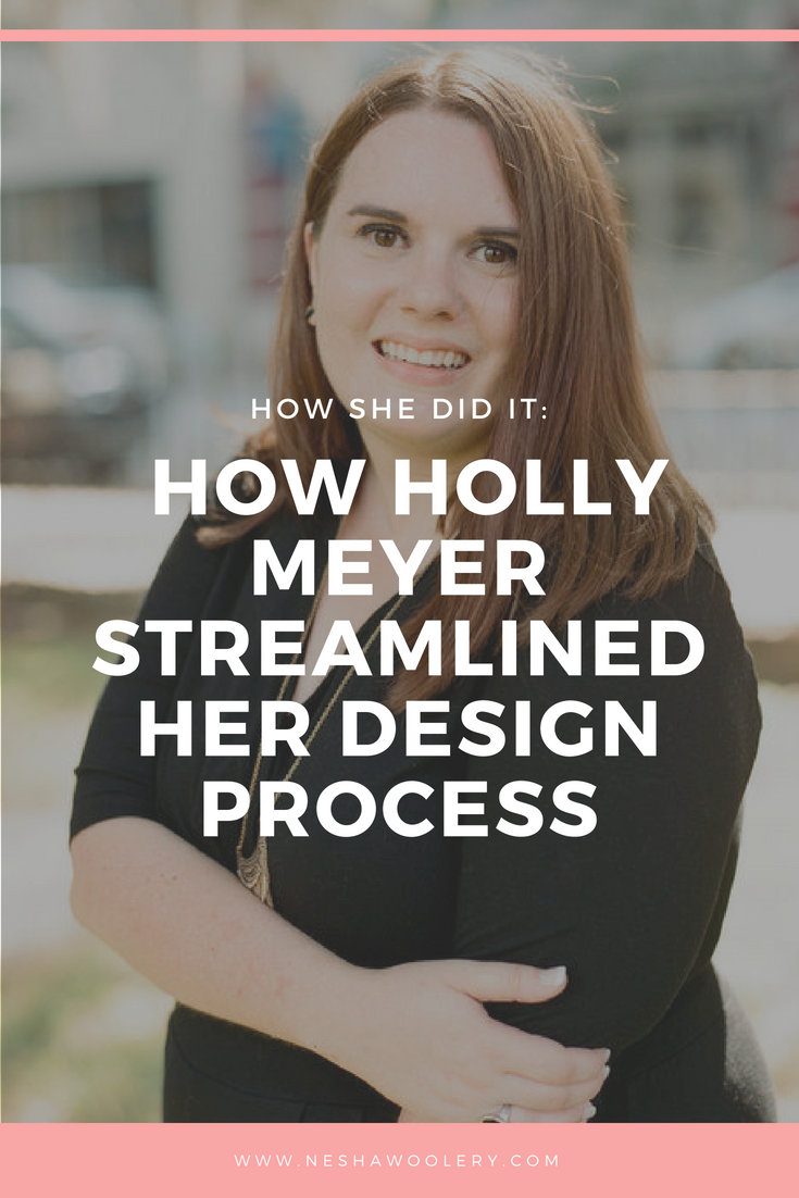 Holly Meyer is the talented designer behind Holly Meyer Design who enrolled in my course, Organize & Automate, and saw SUCH great results from it that I knew I had to turn her experience into a full blog post for you to see. Click on this pin to read Holly's experience now! #Freelance, #Design, #Streamlining & Automating , #Tips, #Design Process, #Inspiration