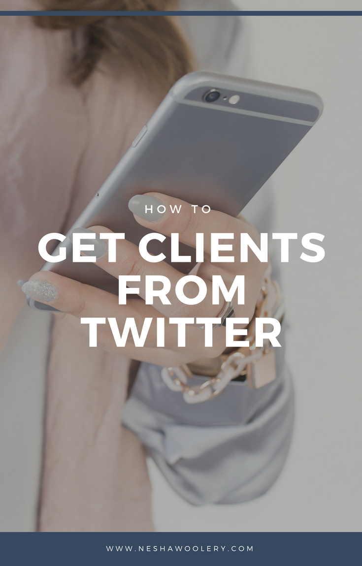How to get clients from Twitter — Nesha Woolery. Struggling to find clients? Click through to learn how to use Twitter to find your ideal clients! #Twitter #Socialmedia #Marketing #Business #Freelance