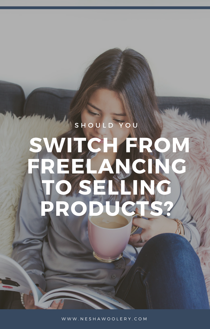 Should you switch from freelancing to selling products? Even though it's trendy to sell infoproducts right now, it's not the right business model for everyone. Click through to learn if it's the right business model for you! #Freelance #Business #E-commerce #Tips #Ideas
