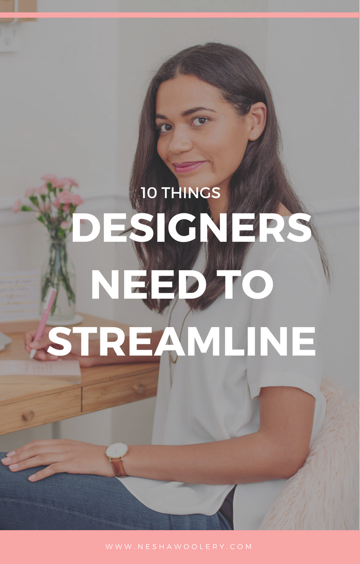The key to running a profitable & enjoyable business that doesn't take over your life and drive you crazy? The solution = streamlining EVERYTHING in your business as possible! Click on this pin to learn the benefits of streamlining now! #Freelance, #Business, #Streamlining & Automating, #Designers, #Tips