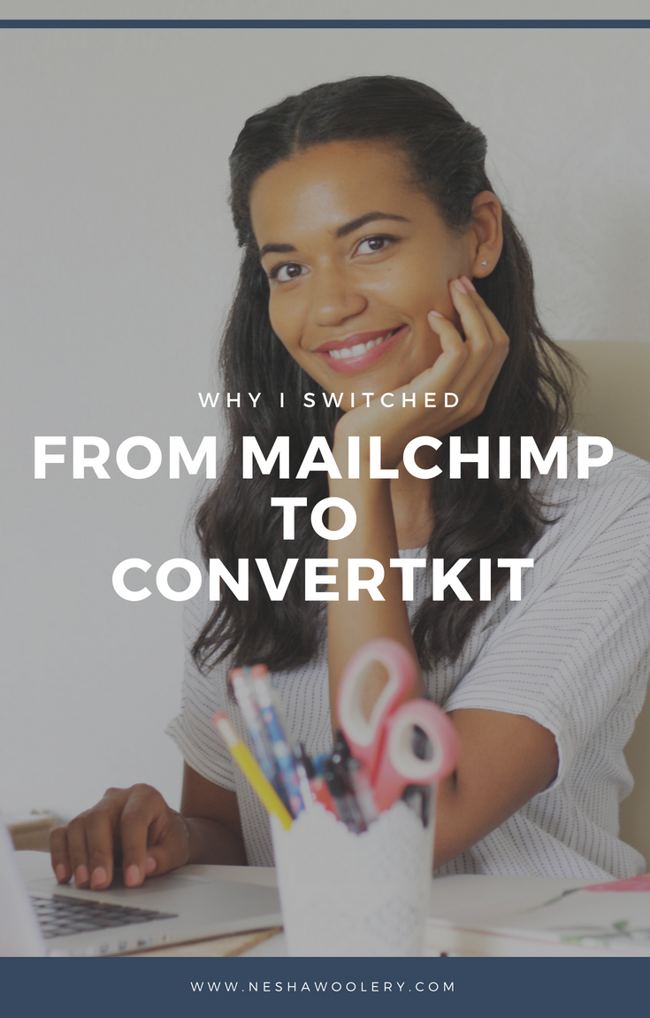Why I switched from Mailchimp to convertkit and the pros and cons of both. Convertkit allows for easy segmentation, really simple email courses, and it only counts a subscribers as ONE subscriber no matter how many times they sign up. To learn more just click through to the blog post! #Streamlining & Automating, #Freelance, #Convertkit, #Business, #Entrepreneur