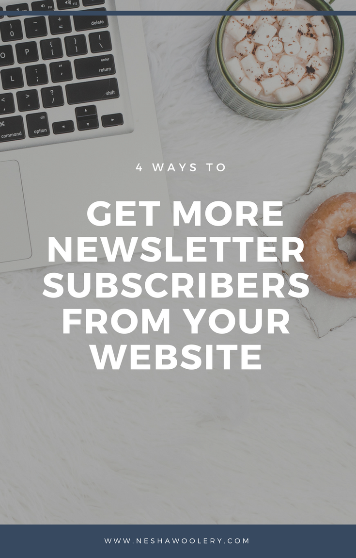 Have you been recently wondering, why your business needs to build an email list? Does every business owner need one? And if you decide to build your list, how can you do it? Well if your looking for the answers to those very important questions then your in the right place! Click on this pin to discover 4 simple ways to get more newsletter subscribers from your website now! #Freelance #Marketing #Business #Clients #Follow Up #Website #Newsletter
