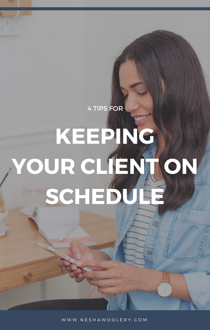 Click on this pin to find 4 very helpful tips for keeping your client on schedule with freelance designer and hand letterer Gillian Tracey. #Freelance #Business #Streamlining & Automating #Planning#Guestpost