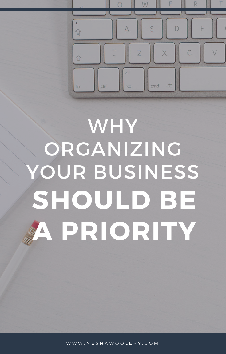 Why organizing your business should be a priority by Nesha Woolery