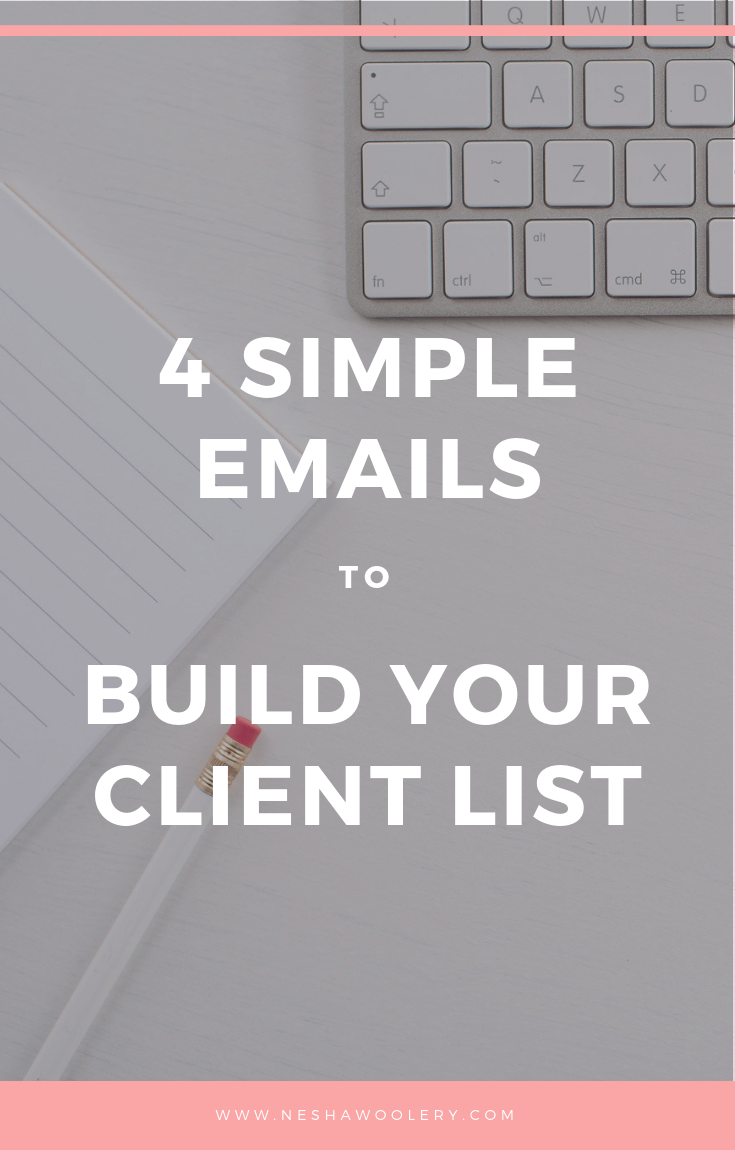 A good friend of mine Whitney Ryan is a copywriter and content coach, and she's taking over my blog to teach you how to use 4 simple emails to build your client list. Click on this pin now for the ultimate tips you wont find anywhere else!   #Freelance, #Marketing, #Email List, #Newsletter, #Website, #Templates #Growth