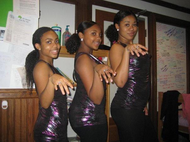 "Before our first performance of ""Single Ladies"" in 2008."