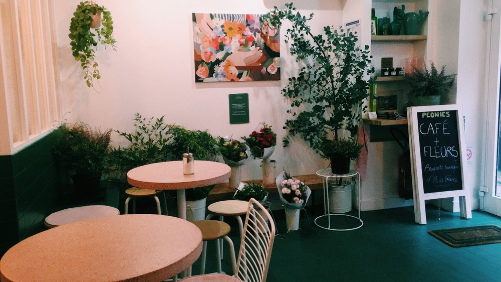 November 2016. Peonies Café. Paris