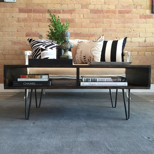 Hairpin Coffee Table with Storage
