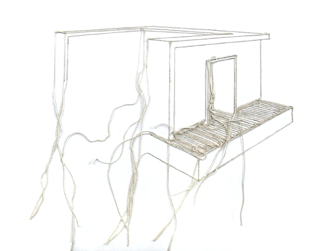 Bethany Taylor, Undone, String Installation, 2010.