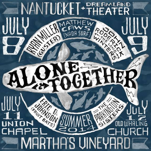 Kicking off last night in Nantucket,  Eric D. Johnson (EDJ)  started the first of four nights with the Alone & Together Tour.     An in the round type tour with  Ryan Miller (Guster) ,  Matthew Caws (Nada Surf) ,  John Roderick (The Long Winters) , and  The Parkington Sisters .   07/08 - Nantucket, MA -  Dreamland Theater    07/09 - Nantucket, MA -  Dreamland Theater    07/11 - Martha's Vineyard, MA - Union Chapel   07/12 - Martha's Vineyard, MA - Old Whaling Church