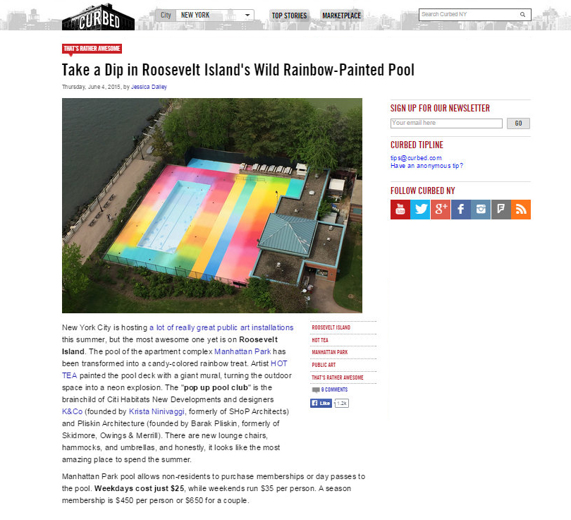 Curbed.com, MP Pool Party Profile, 06/2015