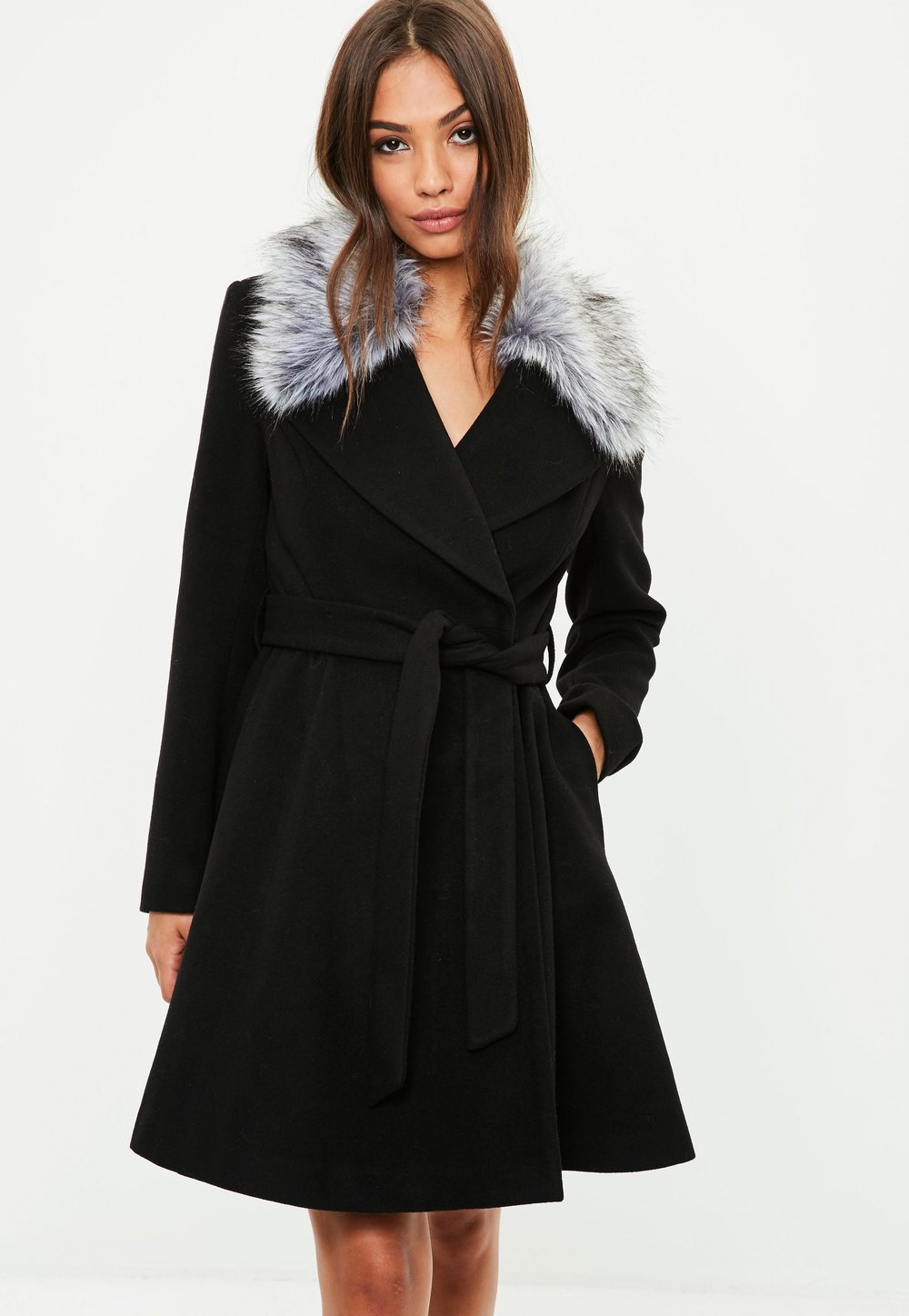 Fur detail coat