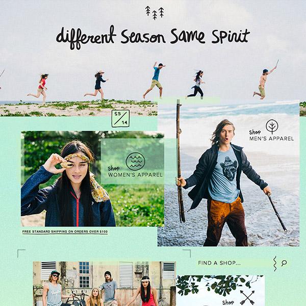 Burton.com Spring/Summer 2014